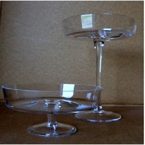 Ваза стеклянная Блюдо D24 H11 см на подставке