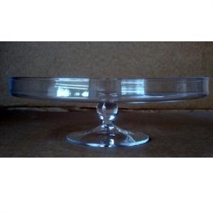 Ваза стеклянная Блюдо D30 H11 см на подставке