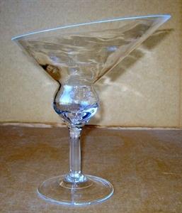 Ваза стеклянная Бокал D25 H29 см со срезом