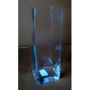 Ваза стеклянная Квадрат L14 W14 H42 см