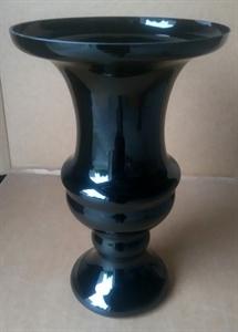Ваза стеклянная D28 H45 см черная