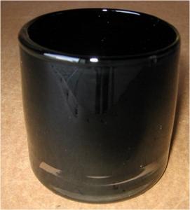 Ваза стеклянная D9 H9 см черная
