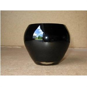 Ваза стеклянная D9/12 H10 см черная