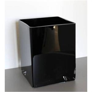 Ваза стеклянная Квадрат L15 W15 H10 см черная
