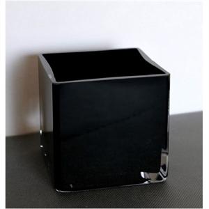 Ваза стеклянная Куб черная