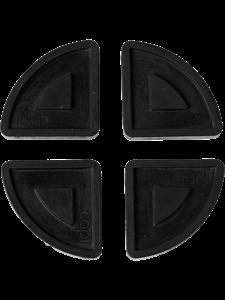 Кашпо Capi accessories pot pads indoor black